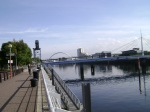 Looking east along the Clyde from the Crowne Plazza