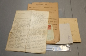 Surviving letters from 'The Great War'