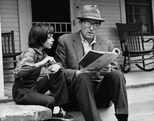 Gregory Peck and Mary Badham in the film adaptation of Harper Lee's classic novel.