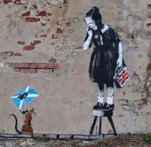 The Scottish Independence campaign as seen by Banksy